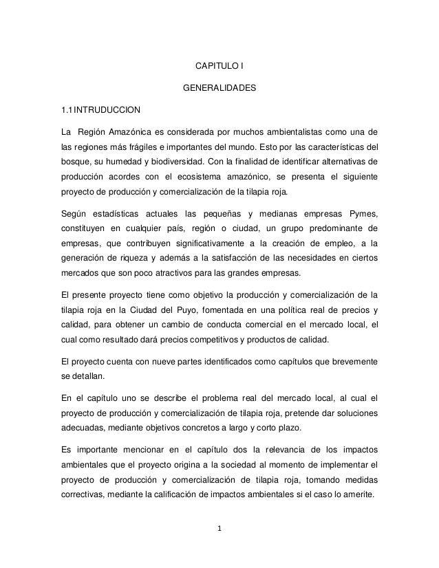CAPITULO I                                GENERALIDADES1.1 INTRUDUCCIONLa Región Amazónica es considerada por muchos ambie...