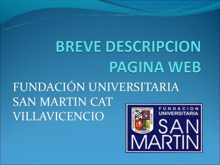 FUNDACIÓN UNIVERSITARIASAN MARTIN CATVILLAVICENCIO