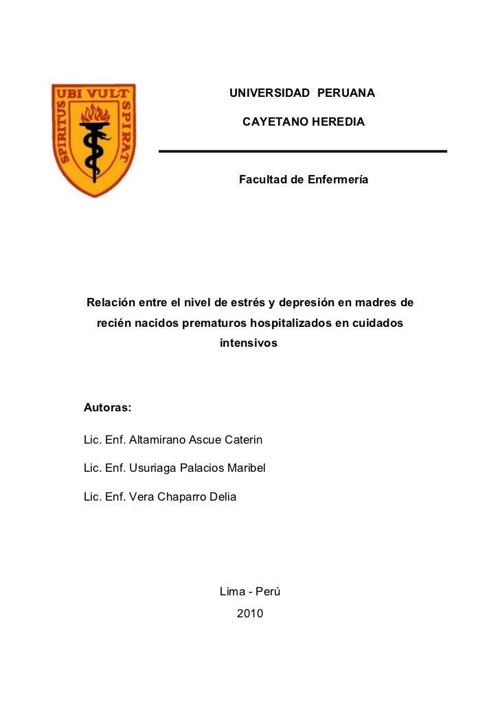 UNIVERSIDAD PERUANA                                CAYETANO HEREDIA                                Facultad de EnfermeríaR...