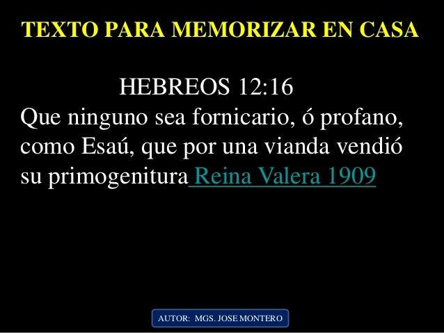 Resultado de imagen para hebreos 12:16