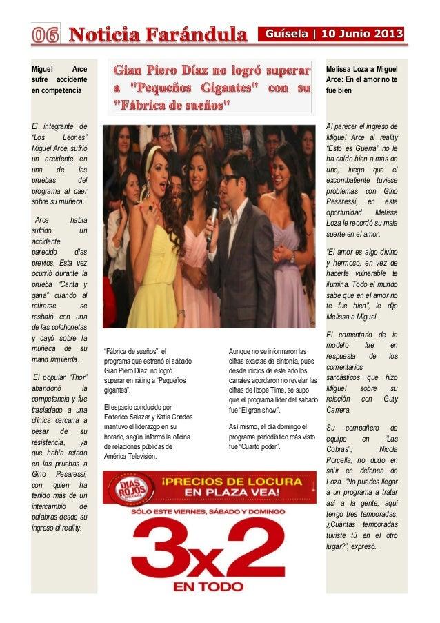 """""""Fábrica de sueños"""", el programa que estrenó el sábado Gian Piero Díaz, no logró superar en ráting a """"Pequeños gigantes"""". ..."""