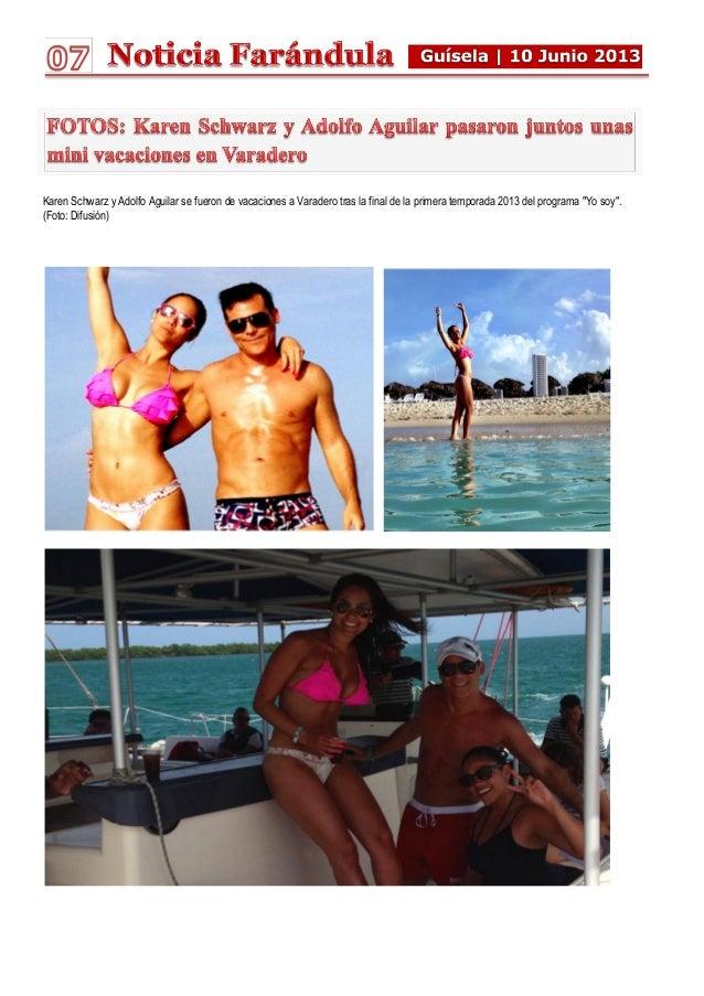 Karen Schwarz y Adolfo Aguilar se fueron de vacaciones a Varadero tras la final de la primera temporada 2013 del programa ...
