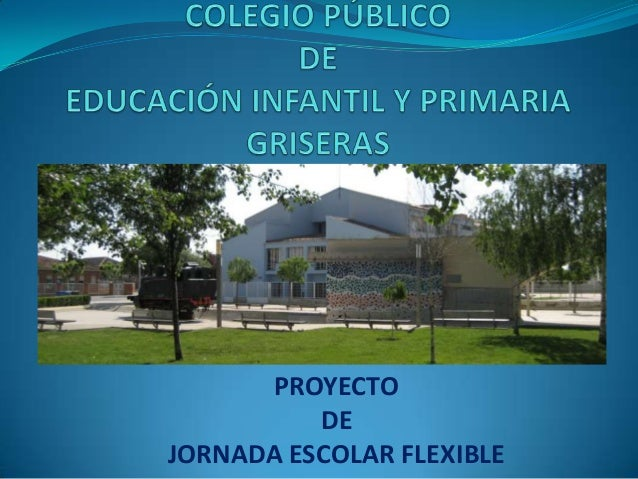 PROYECTODEJORNADA ESCOLAR FLEXIBLE