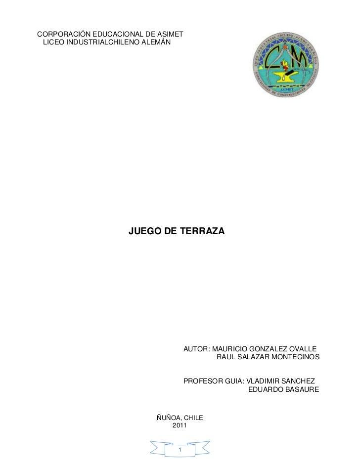 CORPORACIÓN EDUCACIONAL DE ASIMET LICEO INDUSTRIALCHILENO ALEMÁN                                                 NSERTA AQ...