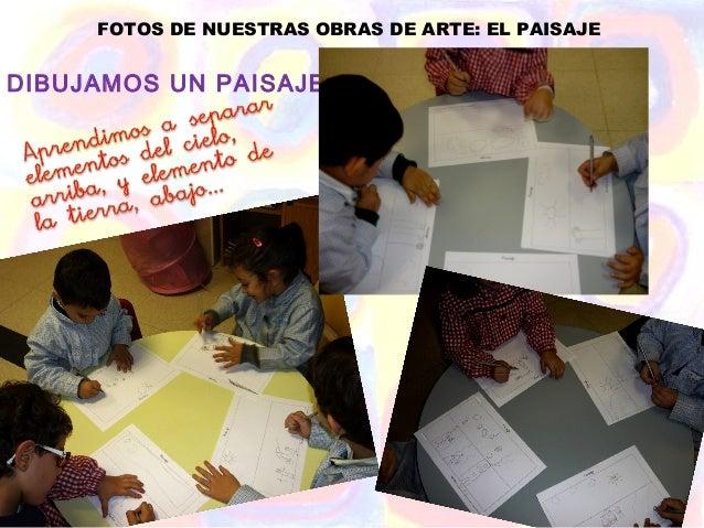 FOTOS DE NUESTRAS OBRAS DE ARTE: EL PAISAJEDIBUJAMOS UN PAISAJE...