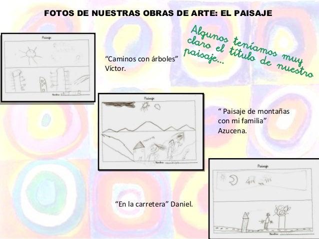 """FOTOS DE NUESTRAS OBRAS DE ARTE: EL PAISAJE           """"Caminos con árboles""""           Víctor.                             ..."""
