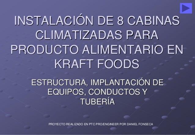 INSTALACIÓN DE 8 CABINAS  CLIMATIZADAS PARA  PRODUCTO ALIMENTARIO EN  KRAFT FOODS  ESTRUCTURA, IMPLANTACIÓN DE  EQUIPOS, C...