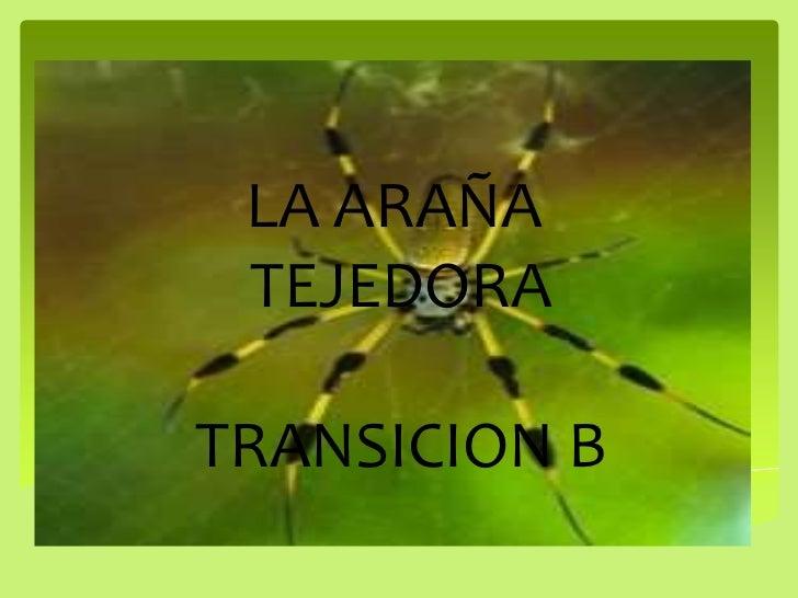 LA ARAÑA <br />TEJEDORA<br />          TRANSICION B          <br />