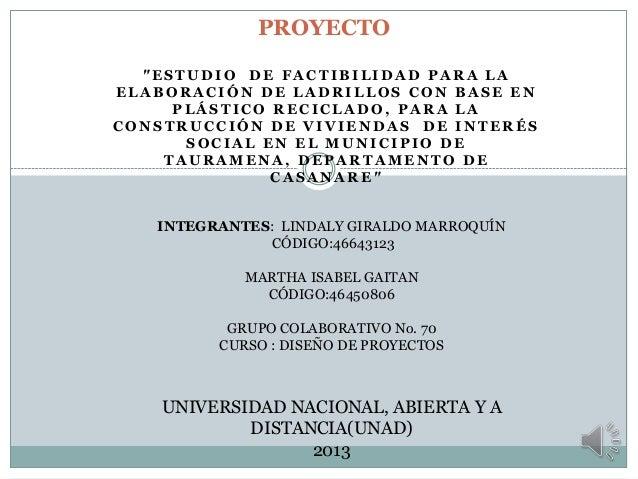 Proyecto Ladrillos De Pl Stico