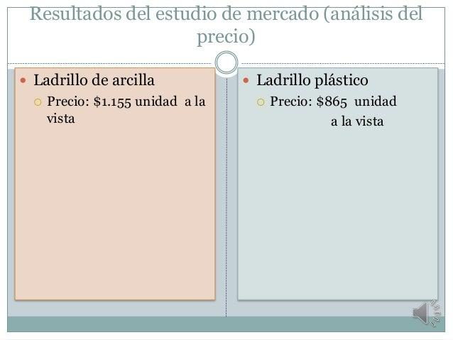 Proyecto ladrillos de pl stico for Precio de ladrillos