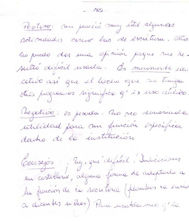 Proyecto La Tablada. Devolución maestros