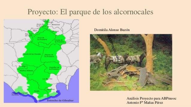 Proyecto: El parque de los alcornocales Análisis Proyecto para ABPmooc Antonio Fº Mañas Pérez Domitila Alonso Buzón