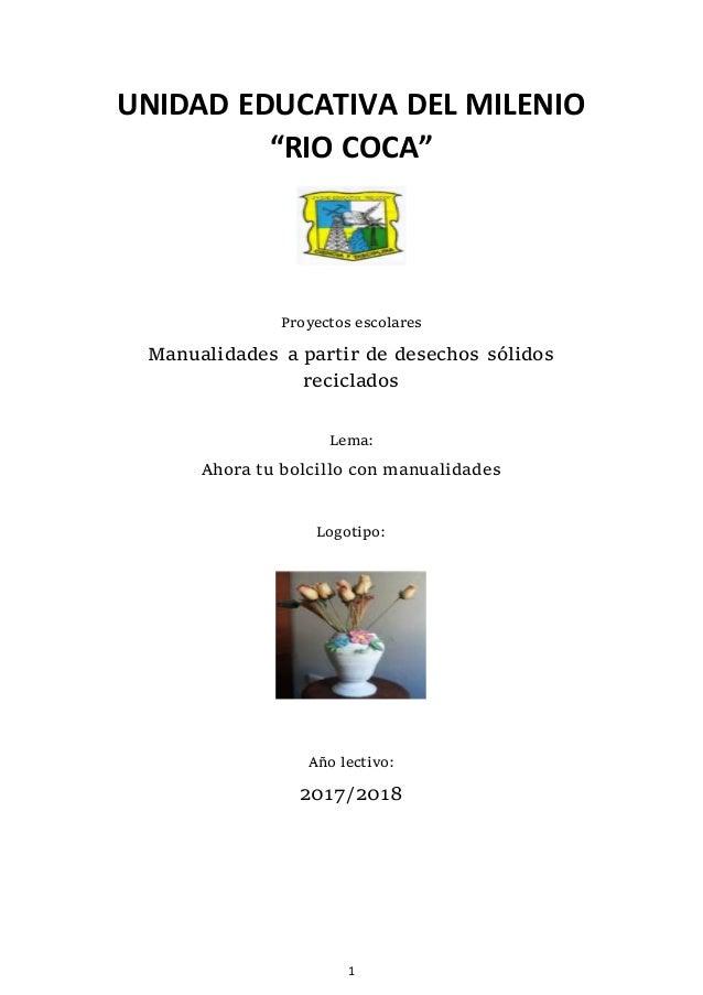 Proyecto Manualidades