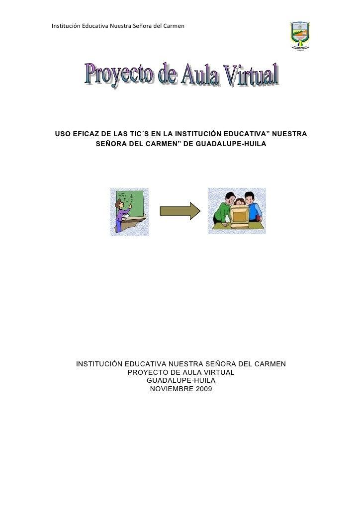 Proyecto Mejoramiento De Aula Ntra. Sra. Del Carmen