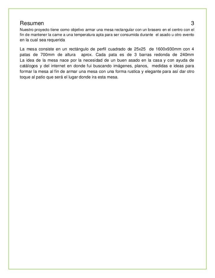 Proyecto mesa brasero - Mesa para brasero ...