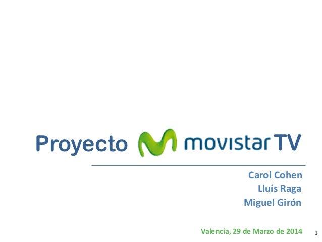 1 Bancaja Tarjetas * Valencia, 29 de Marzo de 2014 Proyecto Carol Cohen Lluís Raga Miguel Girón TV