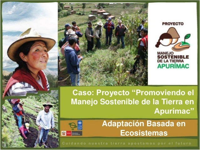 """Caso: Proyecto """"Promoviendo elManejo Sostenible de la Tierra en                      Apurímac""""        Adaptación Basada en..."""
