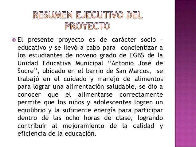 Proyecto nutrici n y alimentaci n saludable for Proyecto para una cantina escolar