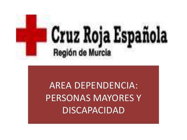 AREA DEPENDENCIA:  PERSONAS MAYORES Y  DISCAPACIDAD