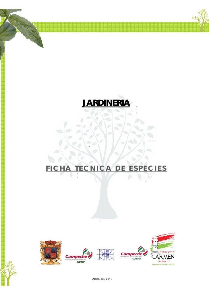 JARDI            INERIA     FICHA TECNICA DE ESPECIES              ABRIL DE 2010                 E