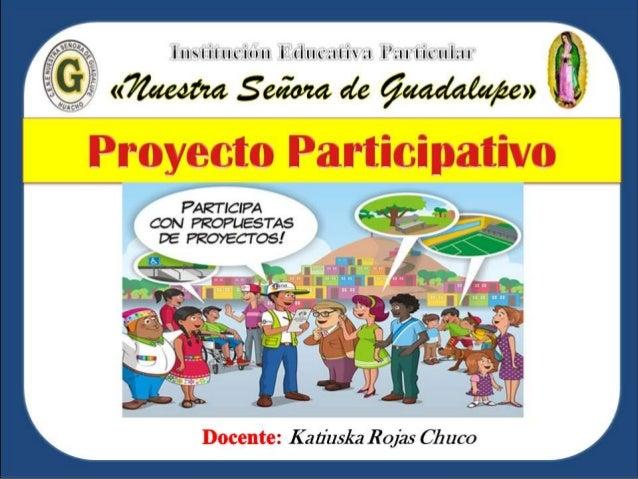 Proyecto participativo 3 for Proyecto de criadero de mojarras