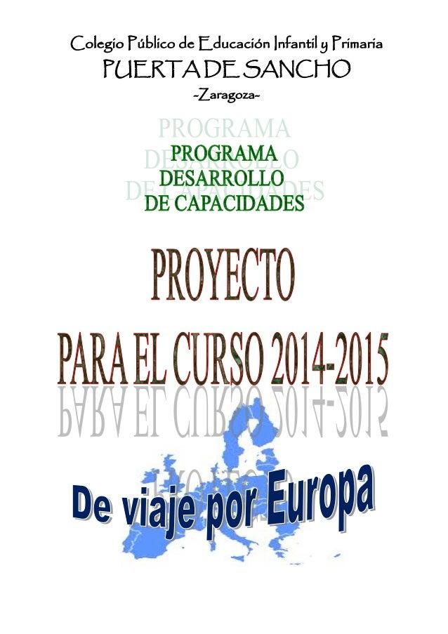 Colegio Público de Educación Infantil y Primaria PUERTA DE SANCHO -Zaragoza-