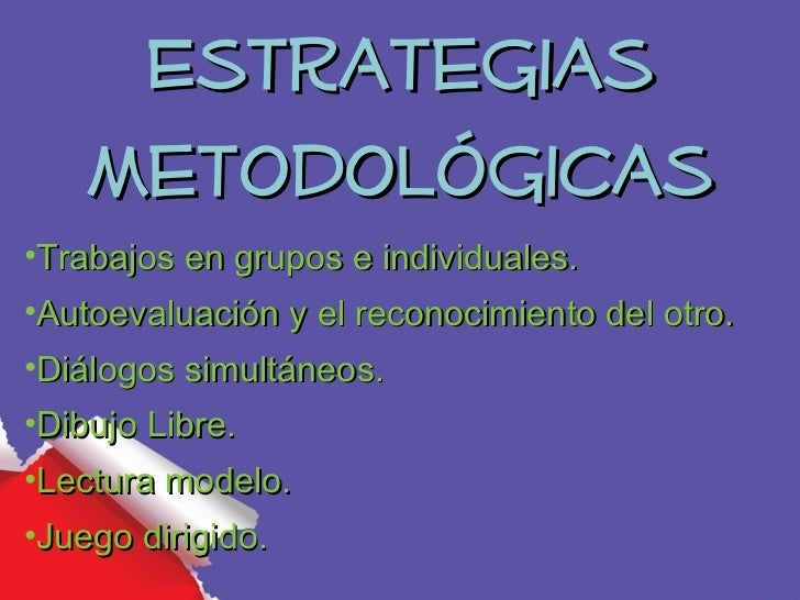 Estrategias    Metodológicas•Trabajos en grupos e individuales.•Autoevaluación y el reconocimiento del otro.•Diálogos simu...