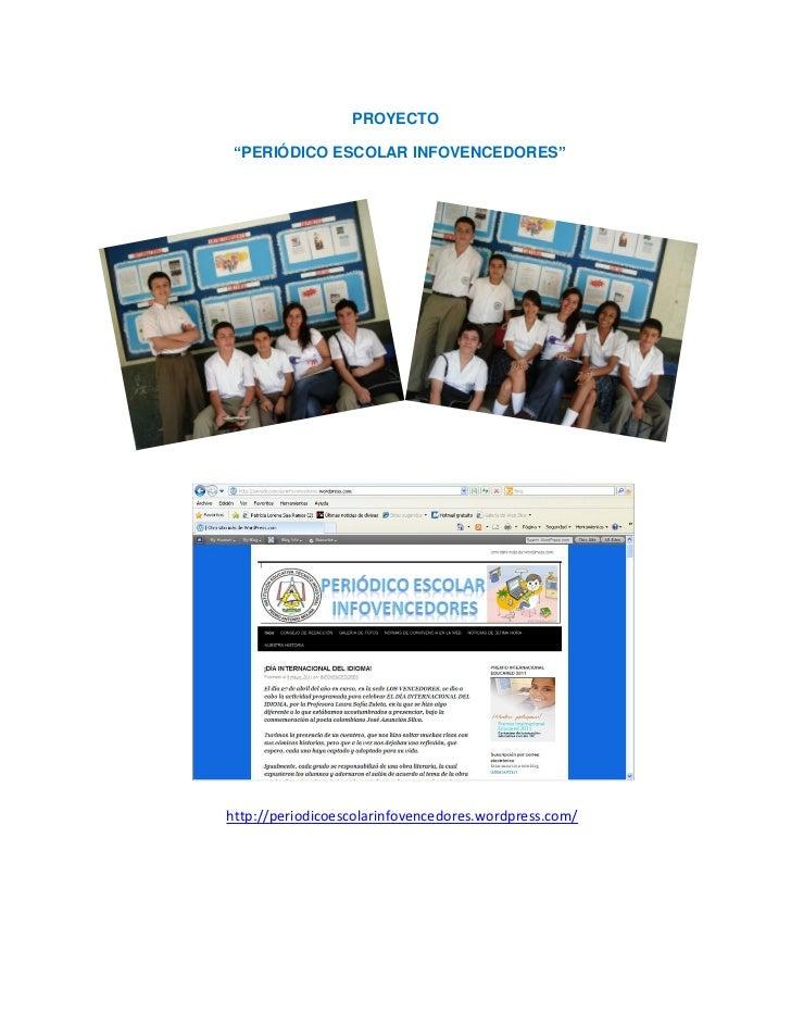 Proyecto Periodico Escolar Infovencedores