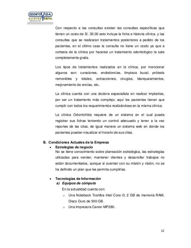 Con respecto a las consultas existen las consultas específicas que tienen un costo de S/. 30.00 esto incluye la ficha e hi...