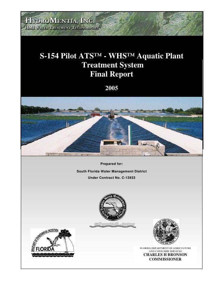 Dragovich                 S-154 Pilot ATS™ - WHS™ Aquatic Plant                          Treatment System                 ...