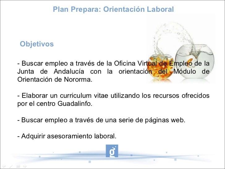 Proyecto guadalinfo csm plan prepara orientaci n laboral for Oficina virtual junta de andalucia