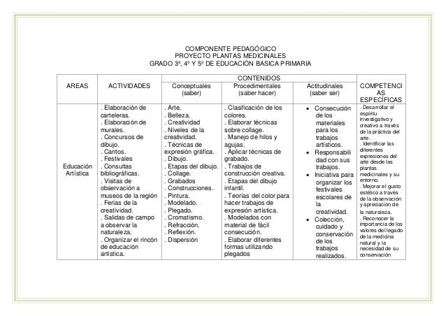 Proyecto Educativo Plantas Medicinales