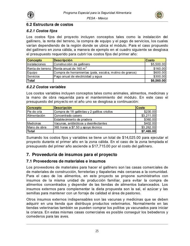 Proyecto pollos for Ejemplo de presupuesto instalacion geotermica chalet