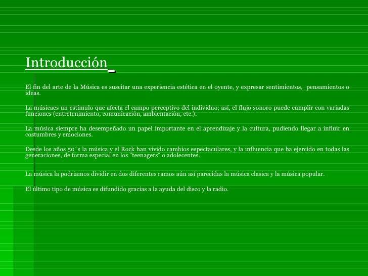 Proyecto Power Point La MúSica