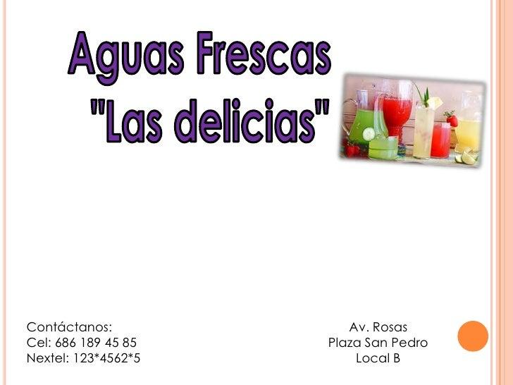 Contáctanos:            Av. RosasCel: 686 189 45 85   Plaza San PedroNextel: 123*4562*5       Local B