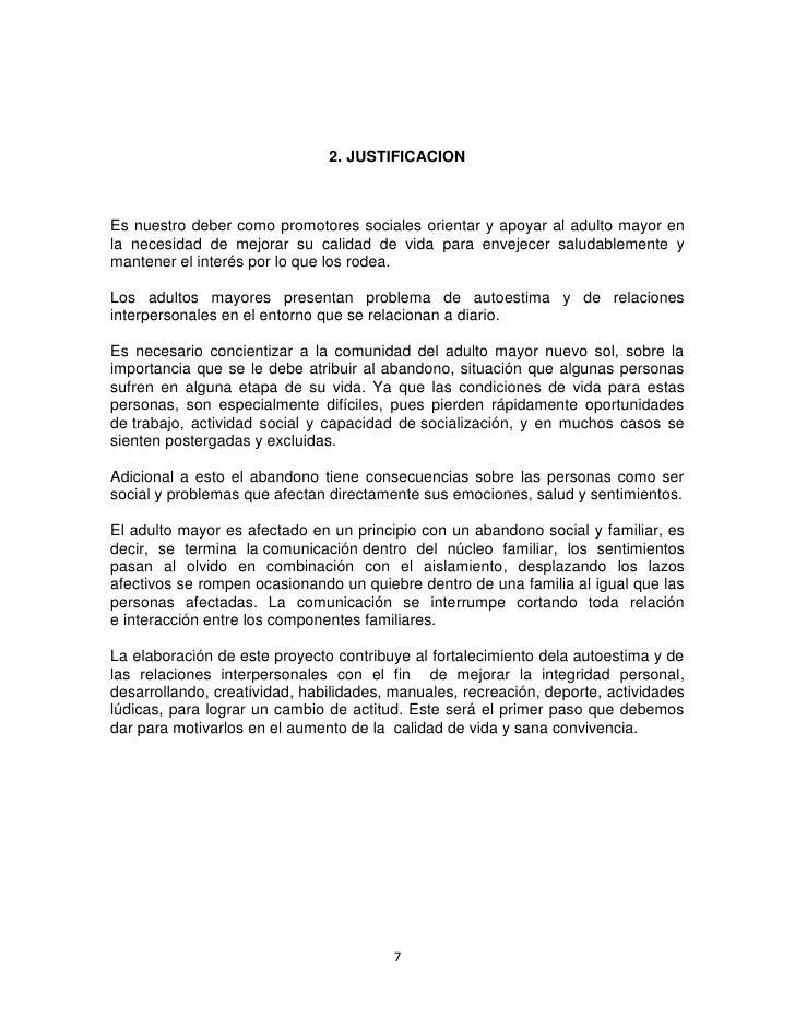 Proyecto practica comunitaria iv for Asilo de ancianos pdf