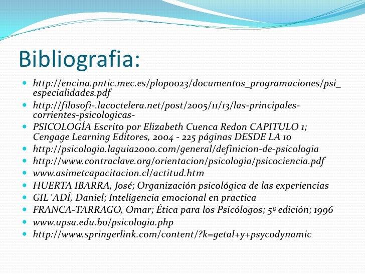 Bibliografia:<br />http://encina.pntic.mec.es/plop0023/documentos_programaciones/psi_especialidades.pdf<br />http://filoso...