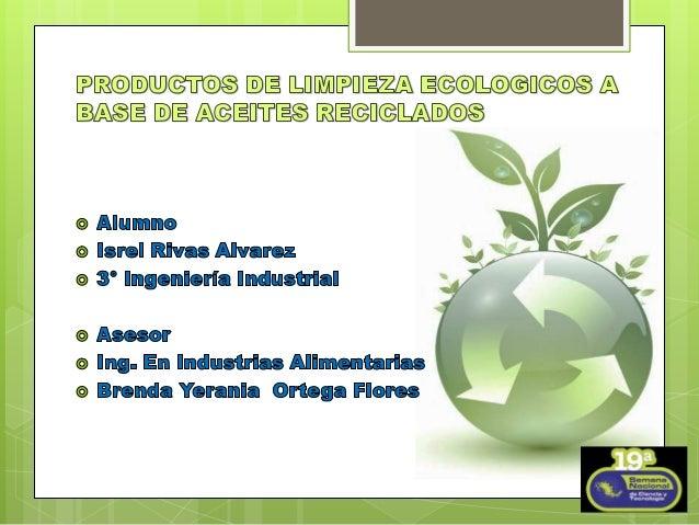 Proyecto productos ecologicos - Productos de limpieza ecologicos ...