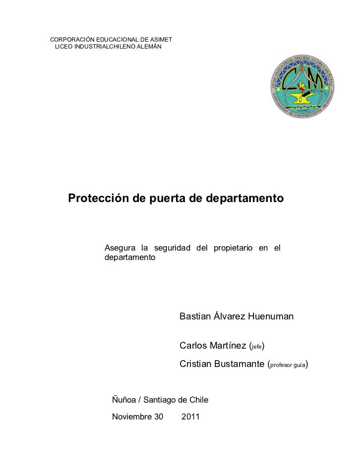 Proyecto protección de puerta