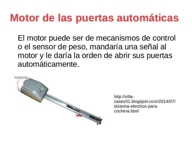 Proyecto puerta autom tica for Motor puerta automatica