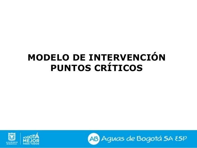 MODELO DE INTERVENCIÓN PUNTOS CRÍTICOS