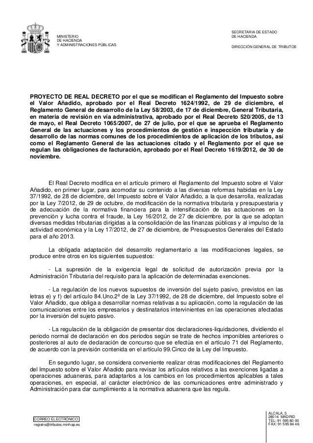 CORREO ELECTRÓNICO registro@tributos.minhap.es ALCALÁ, 5 28014 MADRID TEL: 91 595 80 00 FAX: 91 595 84 46 MINISTERIO DE HA...