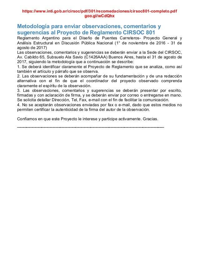 https://www.inti.gob.ar/cirsoc/pdf/301/recomedaciones/cirsoc801-completo.pdf goo.gl/wCdQhx Metodolog�a para enviar observa...