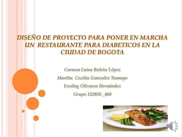 Proyecto restaurante para diabeticos for Proyecto restaurante pdf
