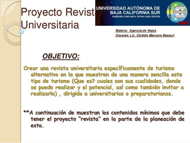 Proyecto revista universitaria for Proyecto para una cantina escolar