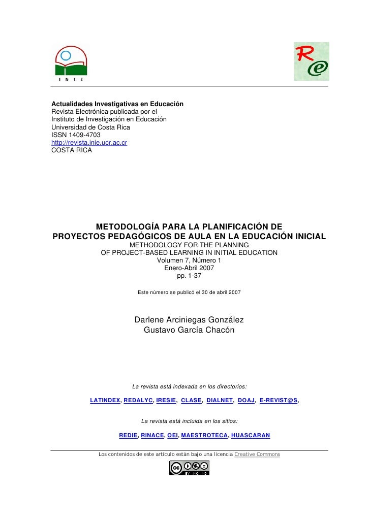 Actualidades Investigativas en EducaciónRevista Electrónica publicada por elInstituto de Investigación en EducaciónUnivers...