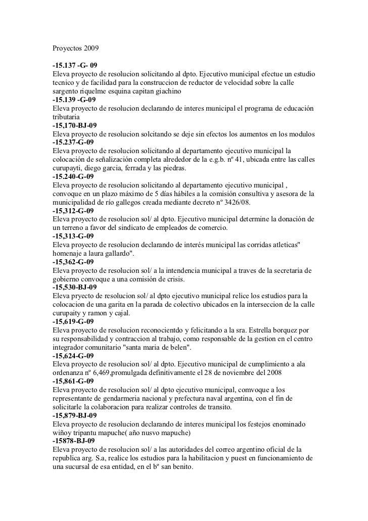 Proyectos 2009-15.137 -G- 09Eleva proyecto de resolucion solicitando al dpto. Ejecutivo municipal efectue un estudiotecnic...