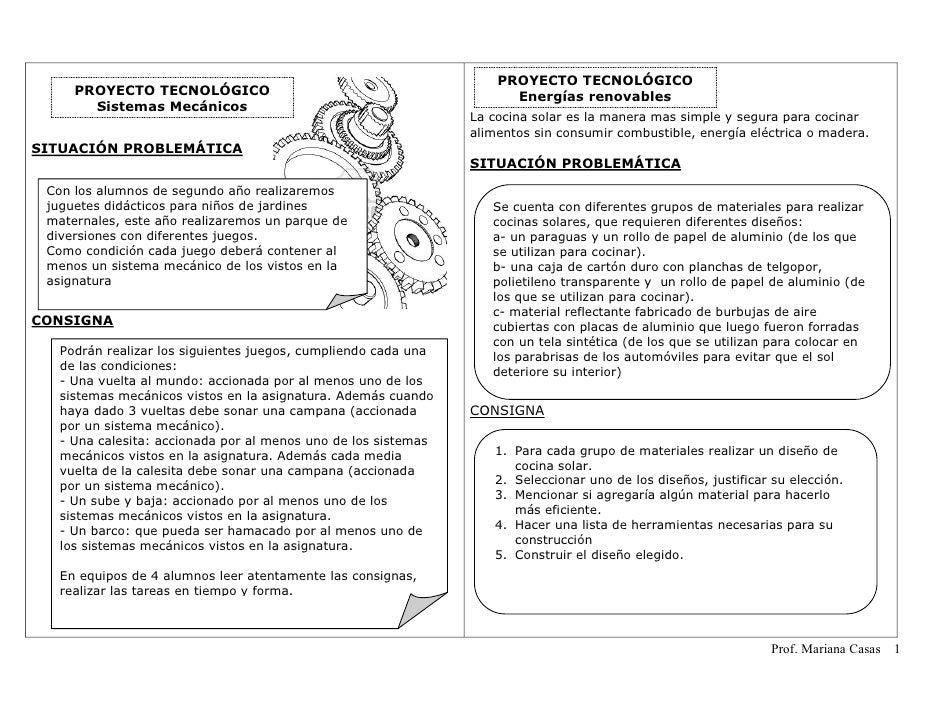PROYECTO TECNOLÓGICO     PROYECTO TECNOLÓGICO                                             Energías renovables       Sistem...