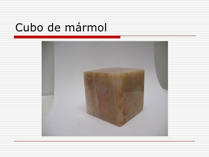 El significado de los objetos for El significado de marmol