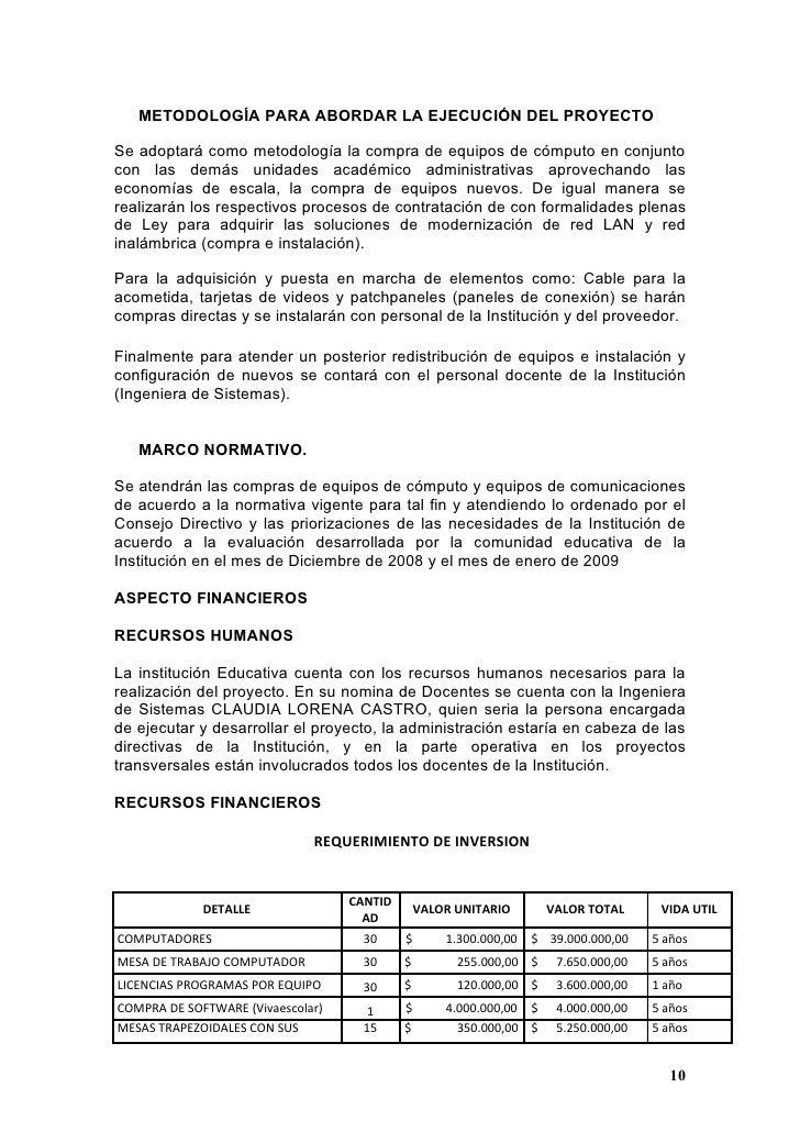 Proyecto sala informtica i e cervantes for Ejemplo de presupuesto instalacion geotermica chalet